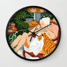 Gossip #illustration #painting Wall Clock