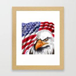 Flag and Eagle Framed Art Print