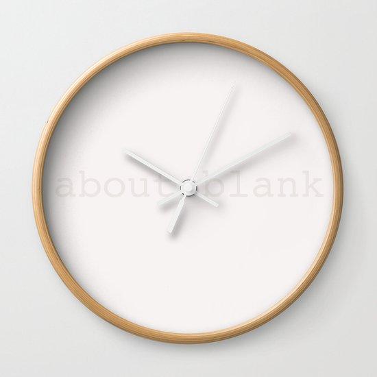 About Blank Wall Clock By Bravo La Fourmi Society6
