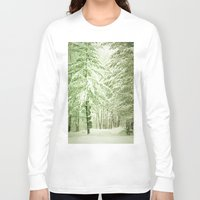 narnia Long Sleeve T-shirts featuring Winter Pine Trees by Olivia Joy StClaire