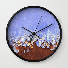 Rust and Blue Wall Clock