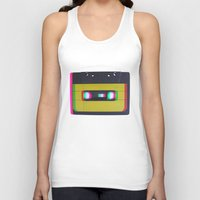 cassette Tank Tops featuring Cassette by Michal