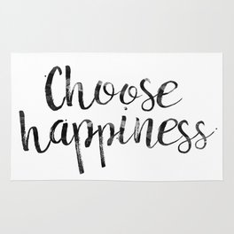 Choose Happiness Rug