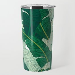 Classic Banana Leaves in Palm Springs Green Travel Mug