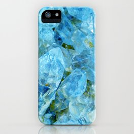 Blue Crystal Geode Art iPhone Case