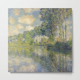 Poplars on the Epte - Monet Painting Metal Print