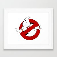 ghost busters Framed Art Prints featuring kkk Busters by Komrod