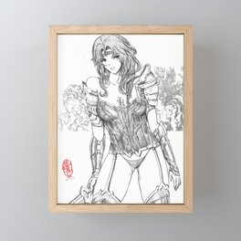 Queen of the Amazons 03 Framed Mini Art Print