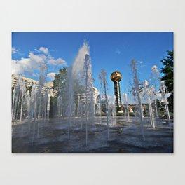 Worlds Fair Park Fountains Canvas Print