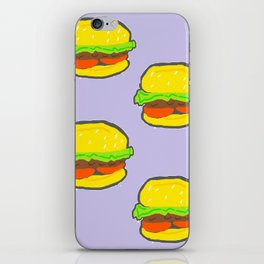 Burger Pattern iPhone Skin