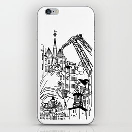 Three City Silhouettes iPhone Skin