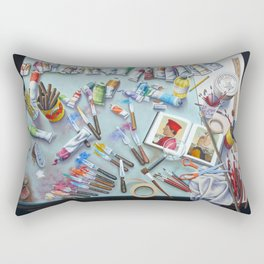 Homage' A Piero Della Francesca Rectangular Pillow
