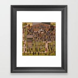 Super Walking Dead: Prison Framed Art Print