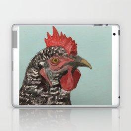 Plymouth Barred Rock Chicken Portrait Laptop & iPad Skin