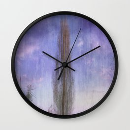 Ultra Violet Sunset Wall Clock