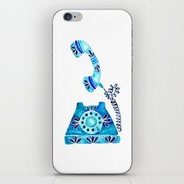 Vintage Rotary Phone – Blue Raspberry iPhone Skin