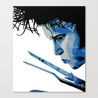 edward scissorhands Canvas Prints featuring Edward Scissorhands by OnaVonVerdoux