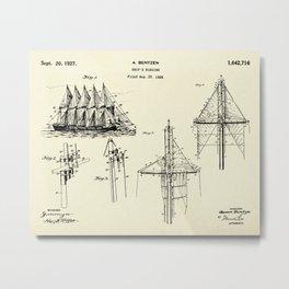 Ship's Rigging-1927 Metal Print