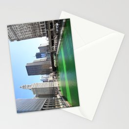Chicago River Green for St. Patrick's Day Stationery Cards