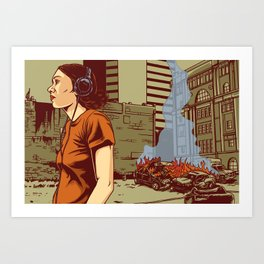 Locals Only - Portland, OR Art Print