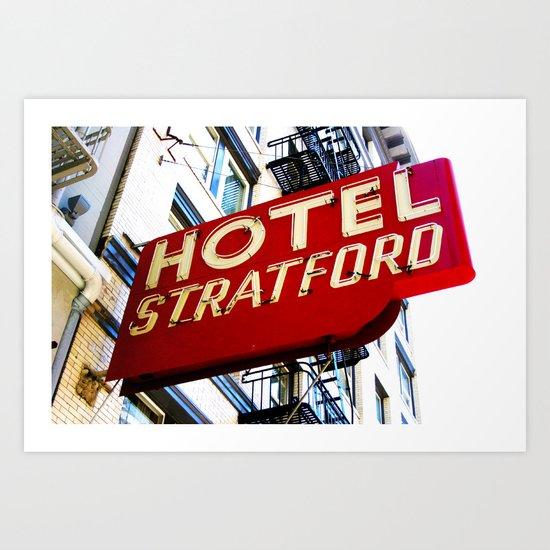Hotel Stratford Art Print