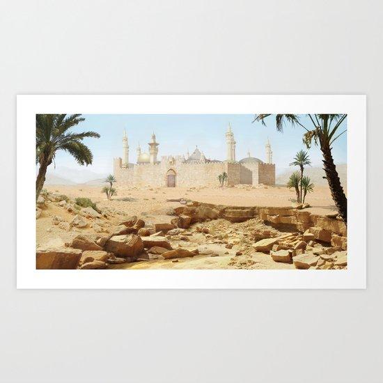 Desert City Art Print