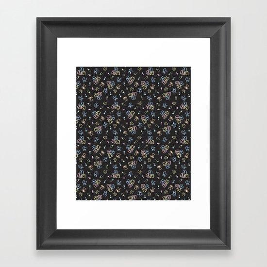 Baby Symbols Scribble - Black Chalkboard by elliottdesignfactory