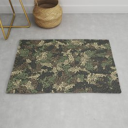Sex positionns camouflage Rug