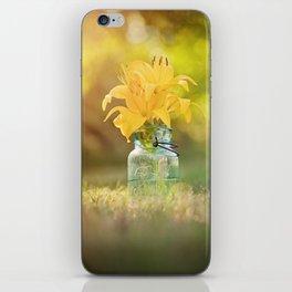 Joyful Yellow iPhone Skin