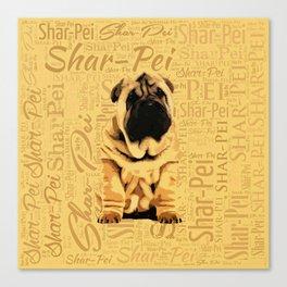 Shar-Pei puppy Canvas Print