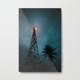 The Tower at Night (Color) Metal Print
