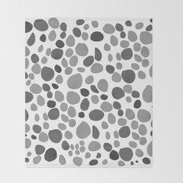 Sea Stones Black and White Throw Blanket