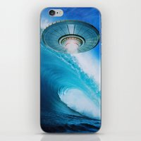 ufo iPhone & iPod Skins featuring UFO by John Turck