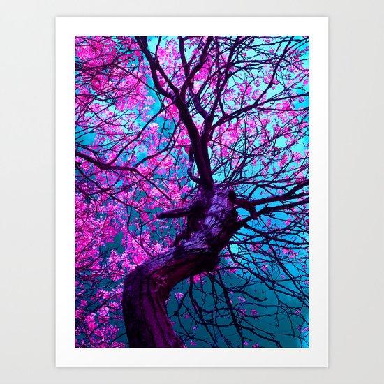 purple tree XIV Art Print