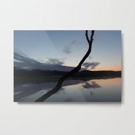 Sunset on lake, Nature Photography, Landscape Photos, sunset photos Metal Print
