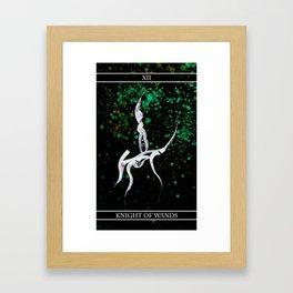 A Tarot of Ink 12 Knight of Wands Framed Art Print