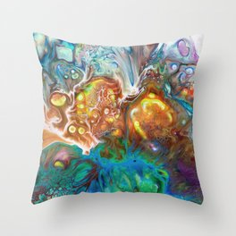 Abstract Crossfire Throw Pillow