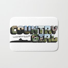 Country Girl Big Letter Bath Mat