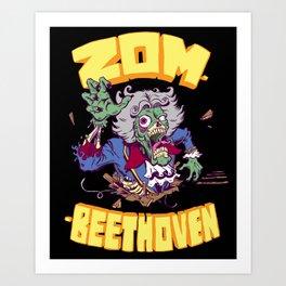 Zombeethoven Art Print