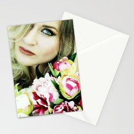beauty blue eye Stationery Cards