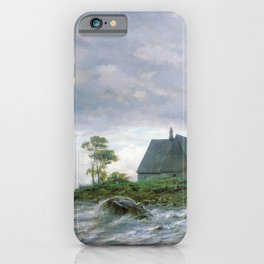 Northern Landscape 1872 By Lev Lagorio   Reproduction   Russian Romanticism Painter iPhone Case