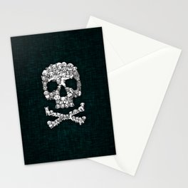 Skull Dogs Halloween Stationery Cards