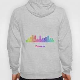 Rainbow Denver skyline Hoody