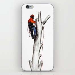 Arborist Tree Surgeon gift or present iPhone Skin