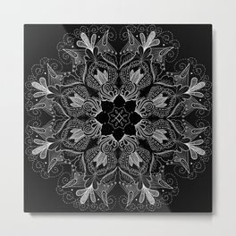 Black Mandala 2 Metal Print