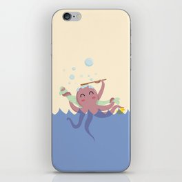 Octopus Shower iPhone Skin