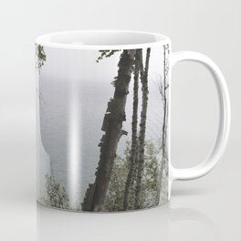 Lake through trees Coffee Mug