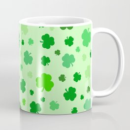 Green Shamrocks Coffee Mug