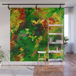 Emerald Forms Abstract Wall Mural