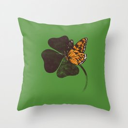By Chance - Green Throw Pillow